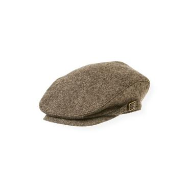 Boys Autumn Brown Heather Tweed Cap at JanieandJack