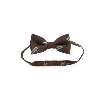 Boys Autumn Brown Airplane Bowtie at JanieandJack