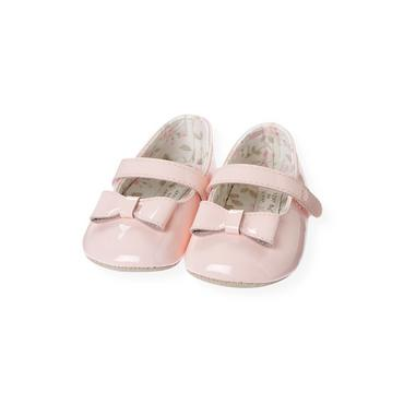 Baby Girl Ice Pink Bow Patent Leather Shoe at JanieandJack