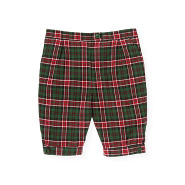 Baby Boy Pine Green Check Plaid Knicker at JanieandJack