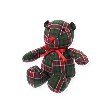Pine Green Check Plaid Bear Toy at JanieandJack