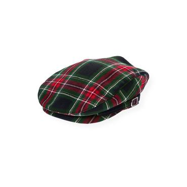 Boys Black Watch Plaid Glen Plaid Wool Cap at JanieandJack