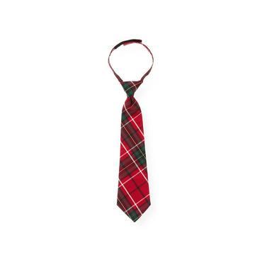 Boys Holiday Red Plaid Plaid Tie at JanieandJack