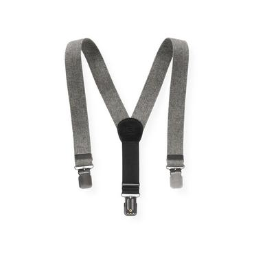 Boys Dark Grey Herringbone Herringbone Suspender at JanieandJack