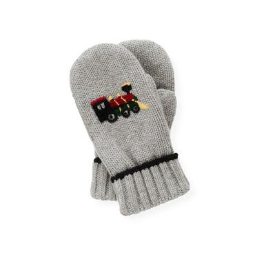Heather Grey Train Mitten at JanieandJack
