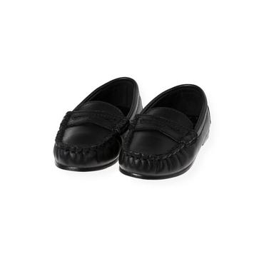 Black Leather Loafer at JanieandJack