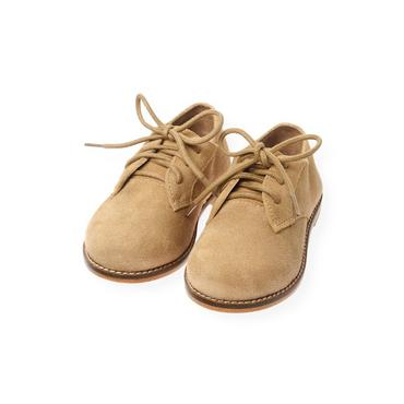 Camel Suede Oxford Shoe at JanieandJack