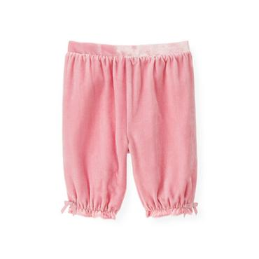 Baby Girl True Pink Velvet Knicker at JanieandJack