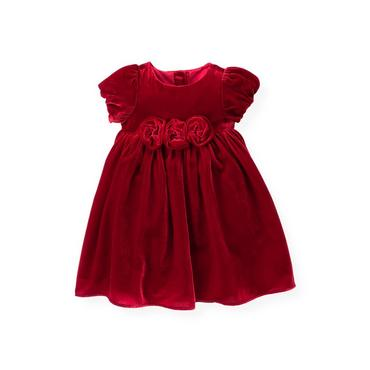 Holiday Red Rosette Velvet Dress at JanieandJack
