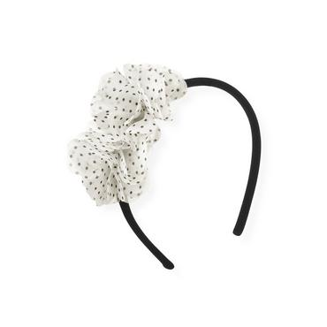 Black Chiffon Rosette Headband at JanieandJack