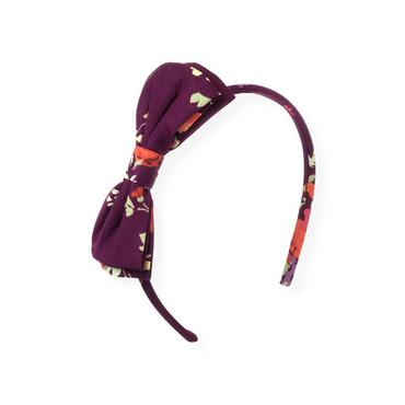 Plum Floral Bow Floral Headband at JanieandJack