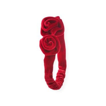 Holiday Red Rosette Velvet Headband at JanieandJack