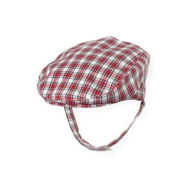 Holiday Red Check Plaid Cap at JanieandJack