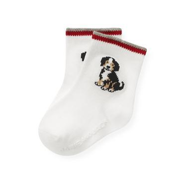 Jet Ivory Puppy Sock at JanieandJack