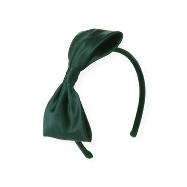 Pine Green Bow Charmeuse Headband at JanieandJack