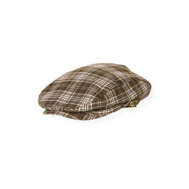 Boys Moose Brown Plaid Plaid Cap at JanieandJack