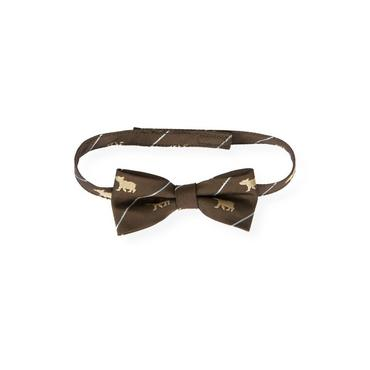 Boys Moose Brown Bear Bowtie at JanieandJack