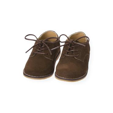 Moose Brown Suede Oxford Shoe at JanieandJack
