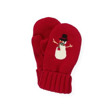 Red Holly Snowman Mitten at JanieandJack