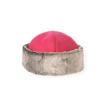 Bright Pink Faux Fur Trim Hat at JanieandJack