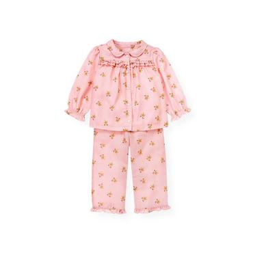Festive Pink Gingerbread Dot Pajama Set at JanieandJack