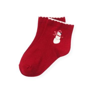 Red Holly Snowman Sock at JanieandJack