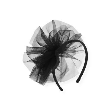Black Tulle Pouf Headband at JanieandJack