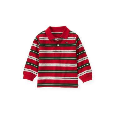 Holiday Red Stripe Stripe Polo Shirt at JanieandJack