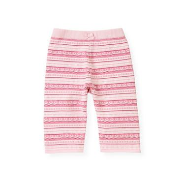 Baby Girl Rose Pink Stripe Fair Isle Sweater Pant at JanieandJack