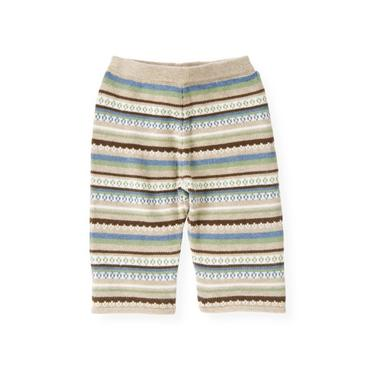 Baby Boy Oatmeal Fair Isle Fair Isle Sweater Pant at JanieandJack