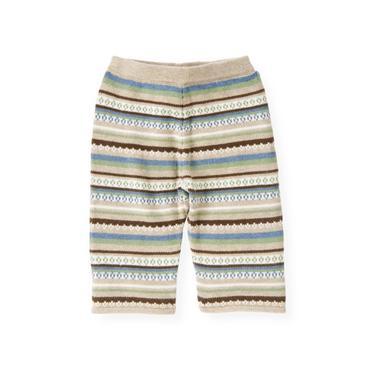 Baby Boy Oatmeal Fair Isle Fair Isle Sweater Pant at JanieandJack