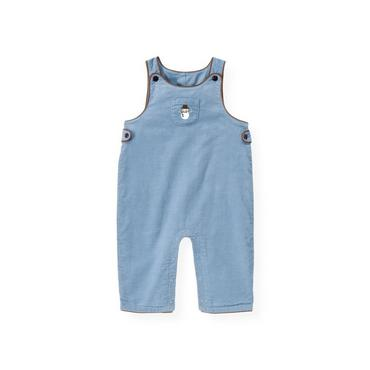Baby Boy Winter Sky Blue Snowman Corduroy Overall at JanieandJack