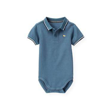 Lighthouse Blue Flag Polo Bodysuit at JanieandJack