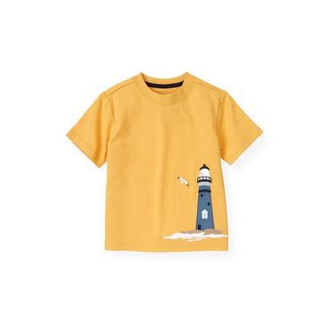 Boys Yellow Sail Lighthouse Tee at JanieandJack