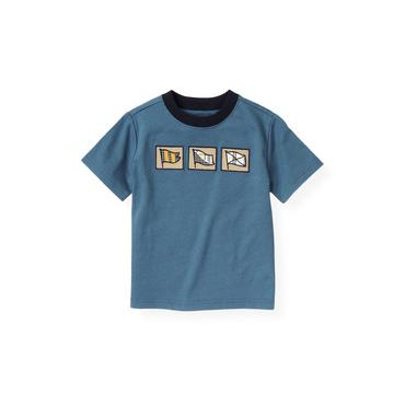 Boys Lighthouse Blue Nautical Flag Tee at JanieandJack