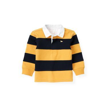 Marine Navy Stripe Stripe Rugby Shirt at JanieandJack