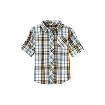 Marine Navy Plaid Plaid Shirt at JanieandJack