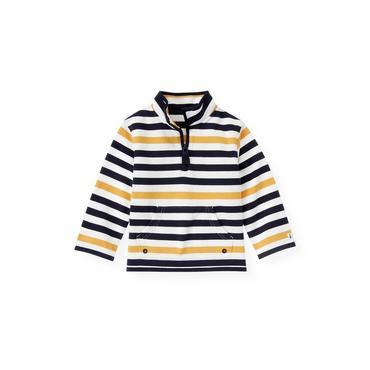 Yellow Sail Stripe Stripe Half-Zip Pullover at JanieandJack