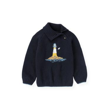 Marine Navy Lighthouse Sweater at JanieandJack