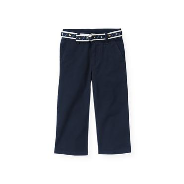 Marine Navy Belted Twill Pant at JanieandJack