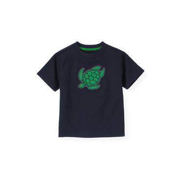 Boys Marine Navy Turtle Tee at JanieandJack