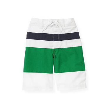 Turtle Green Pieced Swim Trunk at JanieandJack
