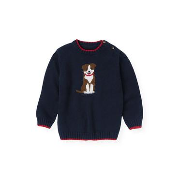 Classic Navy Dog Sweater at JanieandJack
