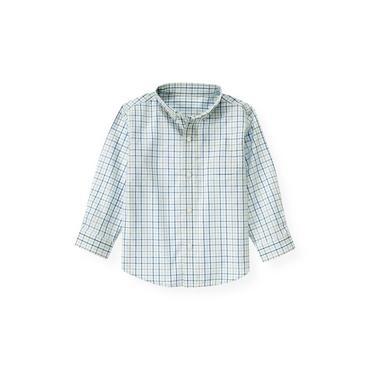 Marine Blue Check Tattersall Shirt at JanieandJack