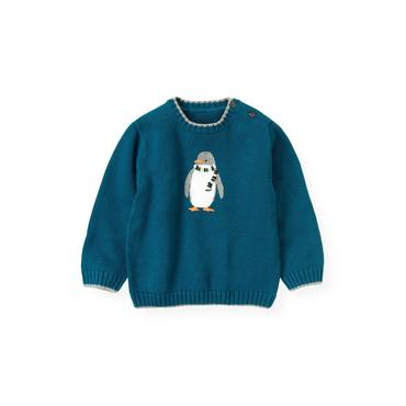Marine Blue Penguin Sweater at JanieandJack