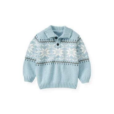 Polar Blue Snowflake Sweater at JanieandJack