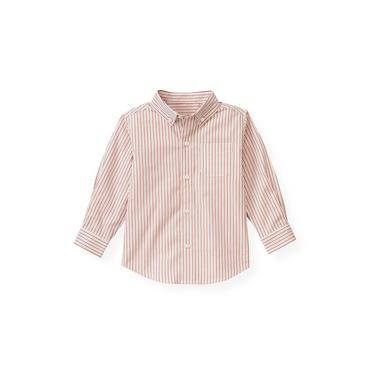 Fire Engine Red Stripe Dobby Stripe Shirt at JanieandJack