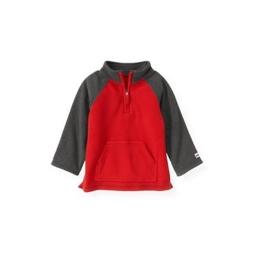 Gray Stone Heather Microfleece Half-Zip Pullover at JanieandJack