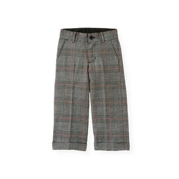 Black Houndstooth Plaid Houndstooth Plaid Suit Trouser at JanieandJack