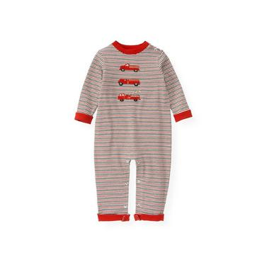 Fire Engine Red Stripe Fire Engine Stripe One-Piece at JanieandJack